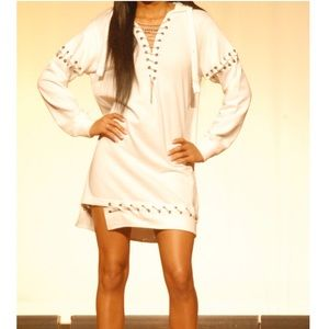 Missguided Hoodie Dress with Chain Detailing